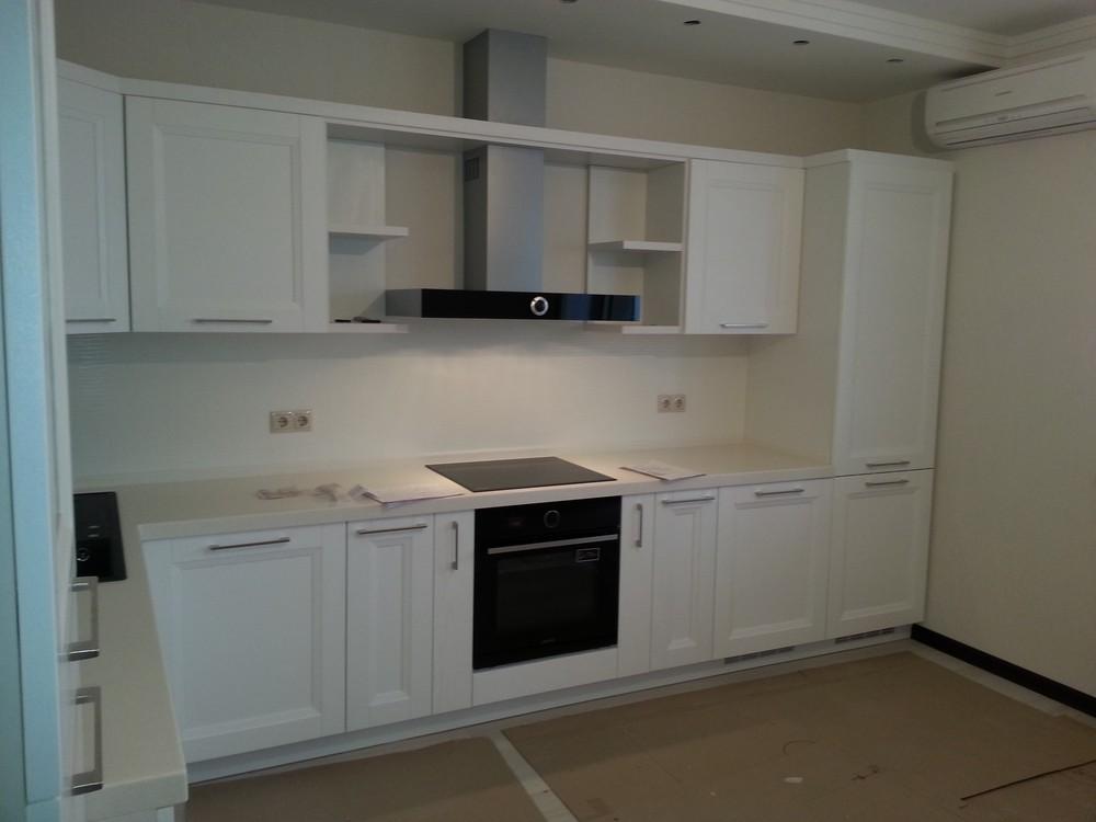 Белый кухонный гарнитур-Кухня МДФ в ПВХ «Модель 274»-фото2
