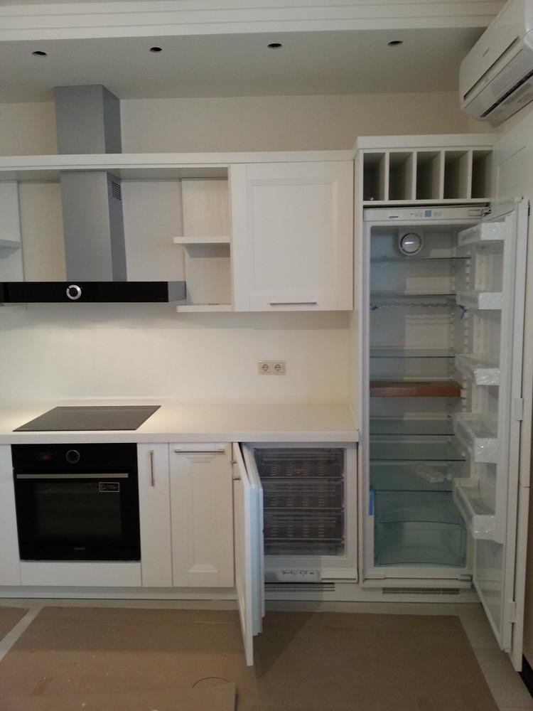 Белый кухонный гарнитур-Кухня МДФ в ПВХ «Модель 274»-фото3