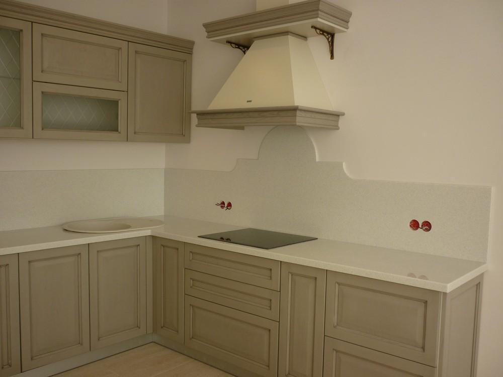 Белый кухонный гарнитур-Кухня МДФ в ПВХ «Модель 255»-фото2