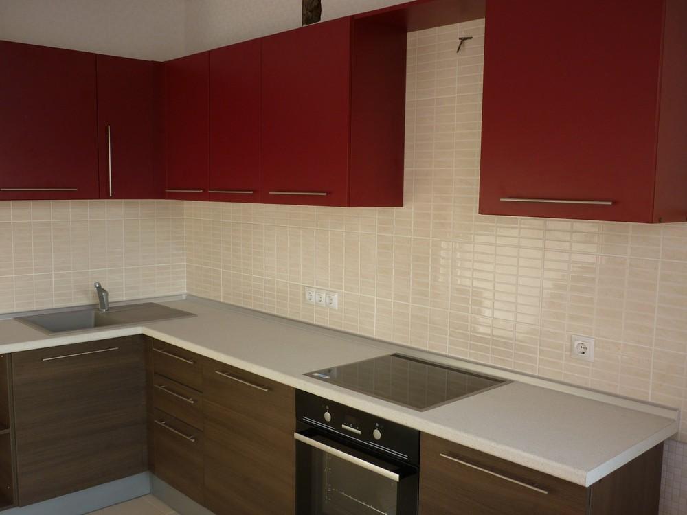 Встроенная кухня-Кухня МДФ в ПВХ «Модель 239»-фото1
