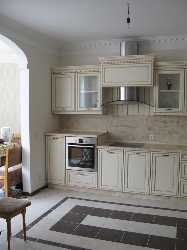 Белый кухонный гарнитур-Кухня из массива «Модель 244»-фото4