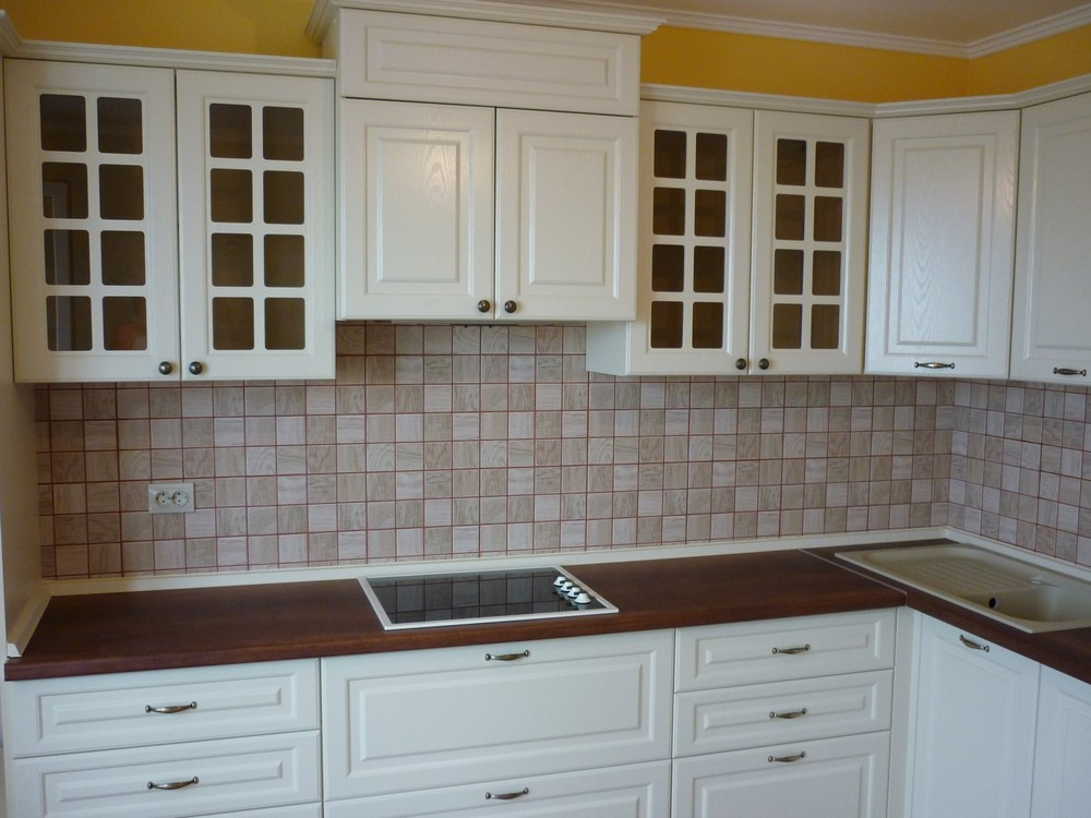Белый кухонный гарнитур-Кухня МДФ в ПВХ «Модель 246»-фото4