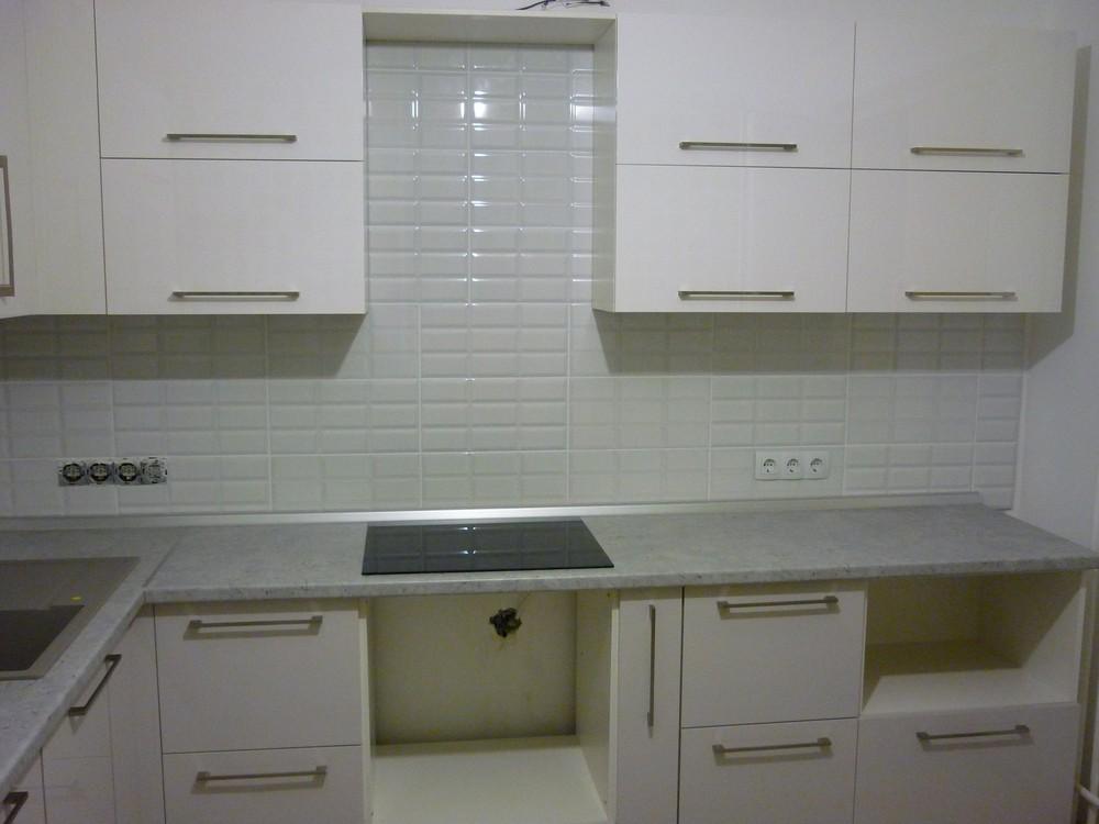 Белый кухонный гарнитур-Кухня МДФ в ПВХ «Модель 247»-фото3