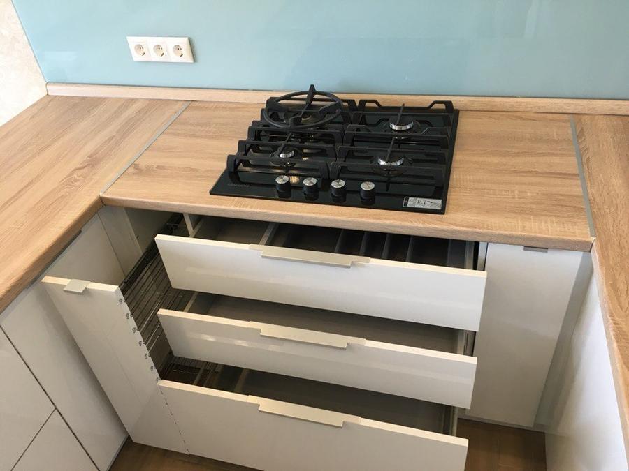 Акриловые кухни-Кухня из акрила «Модель 470»-фото7
