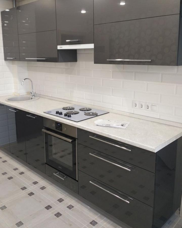 Акриловые кухни-Кухня из пластика «Модель 453»-фото2