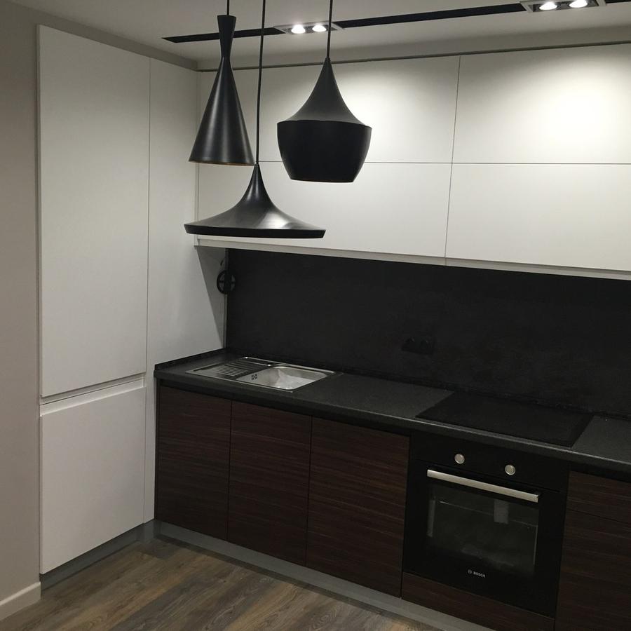 Встроенная кухня-Кухня МДФ в эмали «Модель 457»-фото2