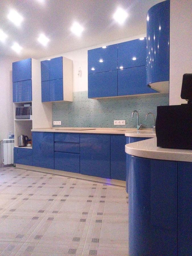 Глянцевые кухни-Кухня МДФ в эмали «Модель 428»-фото1