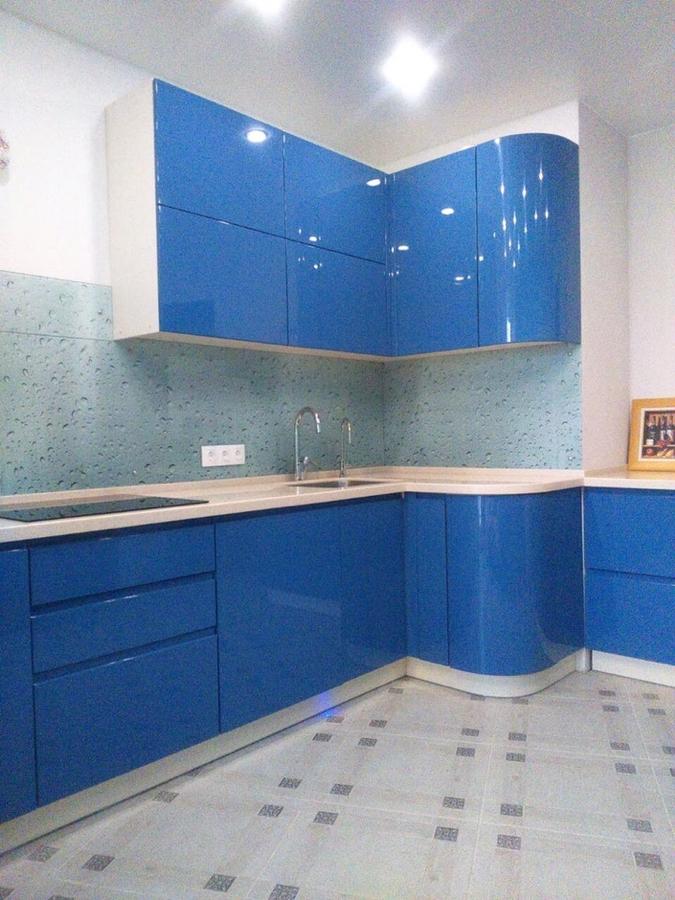 Глянцевые кухни-Кухня МДФ в эмали «Модель 428»-фото3