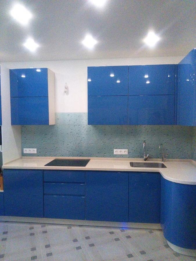 Глянцевые кухни-Кухня МДФ в эмали «Модель 428»-фото2