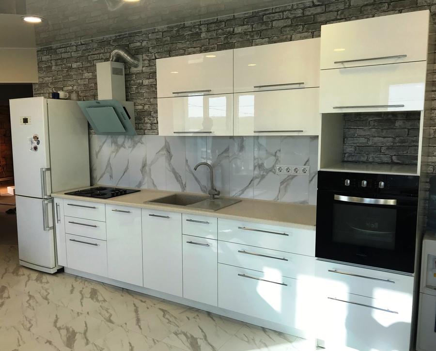 Белый кухонный гарнитур-Кухня МДФ в пластике «Модель 488»-фото2