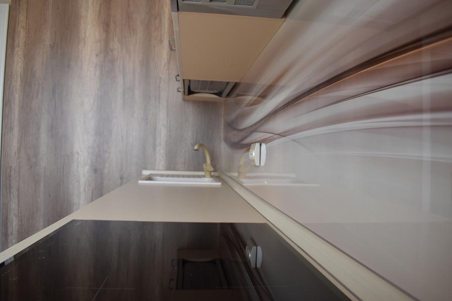 Белый кухонный гарнитур-Кухня МДФ в ПВХ «Модель 504»-фото7