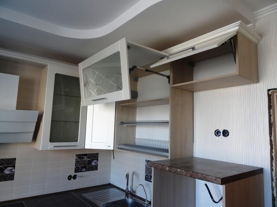 Белый кухонный гарнитур-Кухня МДФ в ПВХ «Модель 514»-фото6