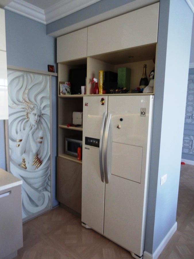 Встроенная кухня-Кухня МДФ в ПВХ «Модель 484»-фото6