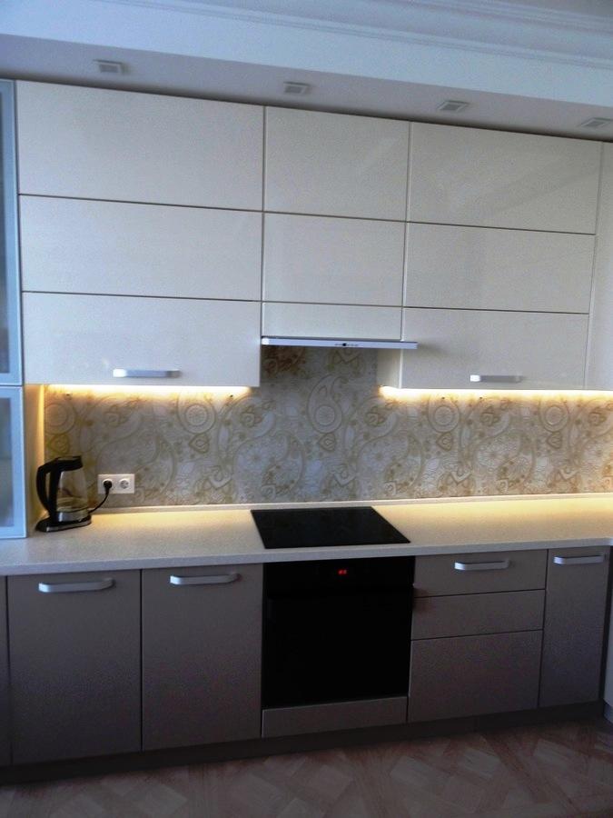 Встроенная кухня-Кухня МДФ в ПВХ «Модель 484»-фото3