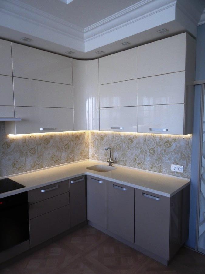 Встроенная кухня-Кухня МДФ в ПВХ «Модель 484»-фото4