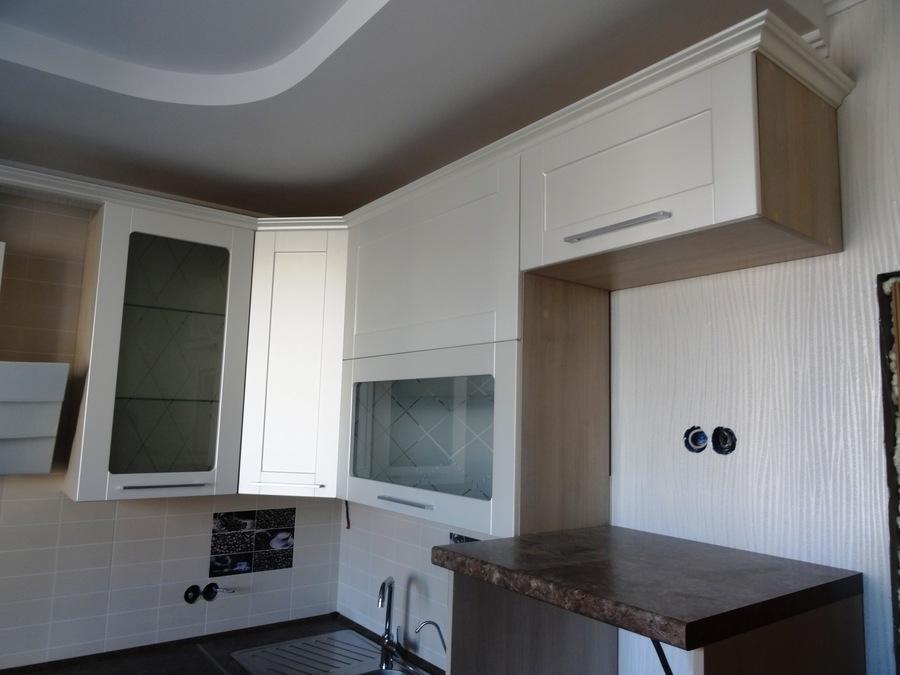 Белый кухонный гарнитур-Кухня МДФ в ПВХ «Модель 514»-фото5