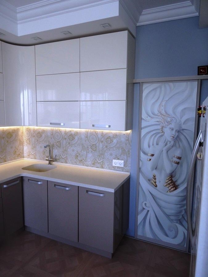 Встроенная кухня-Кухня МДФ в ПВХ «Модель 484»-фото5