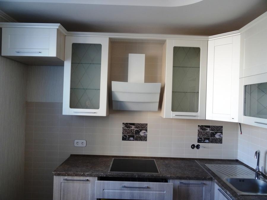 Белый кухонный гарнитур-Кухня МДФ в ПВХ «Модель 514»-фото4
