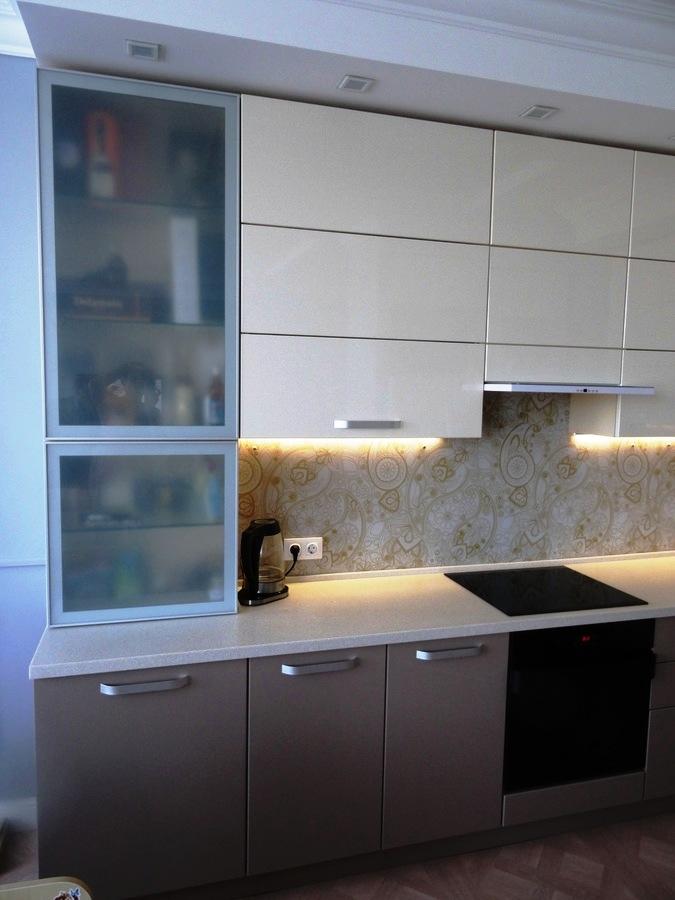 Встроенная кухня-Кухня МДФ в ПВХ «Модель 484»-фото2