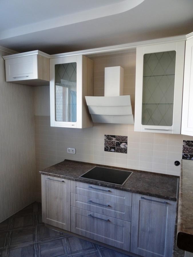 Белый кухонный гарнитур-Кухня МДФ в ПВХ «Модель 514»-фото3