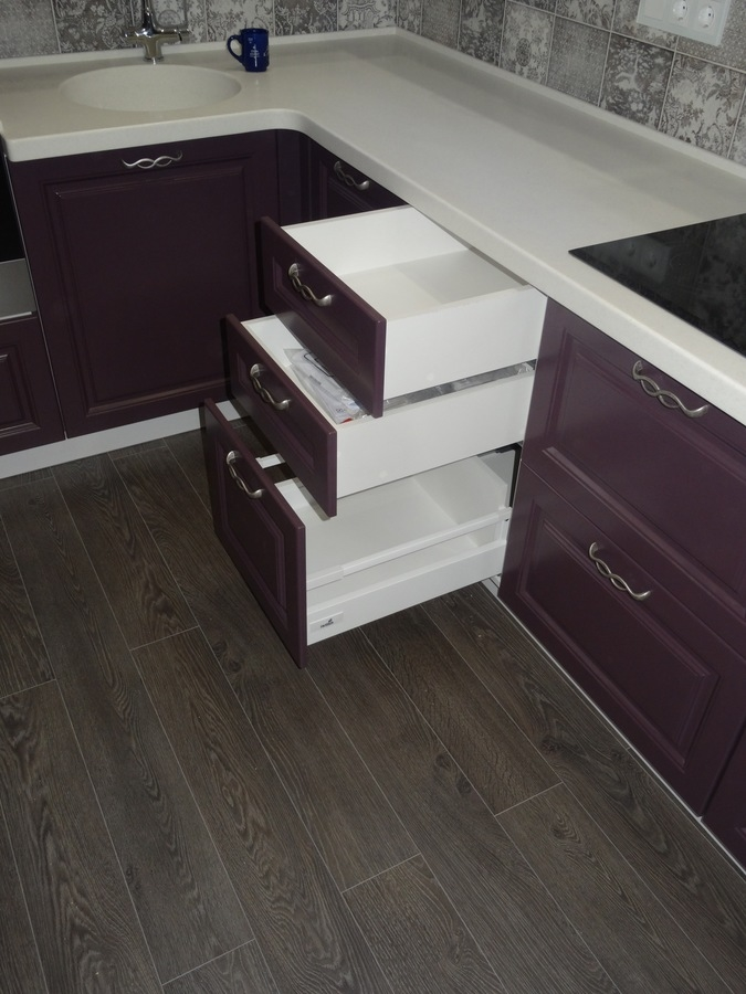 Классические кухни-Кухня МДФ в ПВХ «Модель 518»-фото6