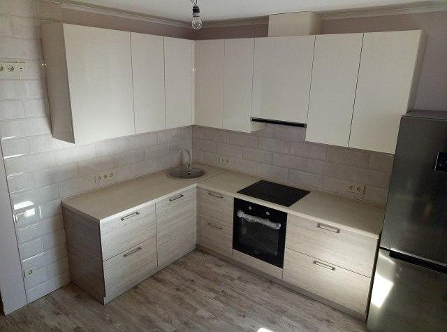 Белый кухонный гарнитур-Кухня из ЛДСП «Модель 400»-фото1