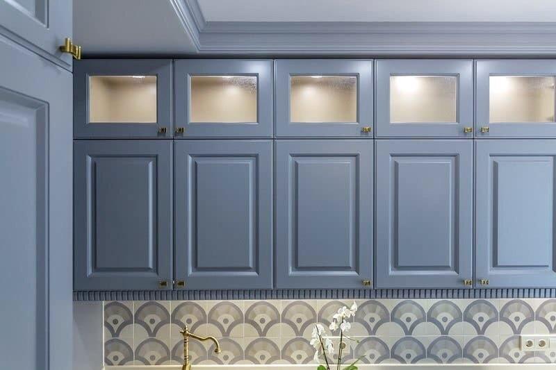 Встроенная кухня-Кухня МДФ в эмали «Модель 420»-фото5