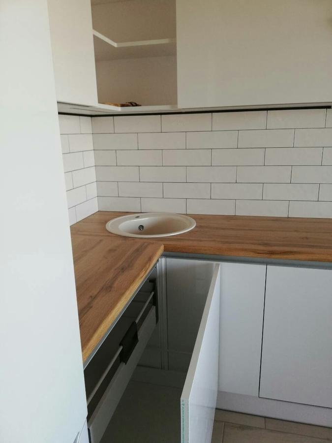 Белый кухонный гарнитур-Кухня МДФ в эмали «Модель 380»-фото6