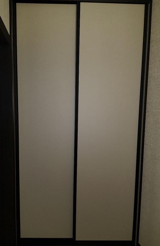 Белые шкафы-купе-Шкаф-купе из стекла Лакобель «Модель 408»-фото1