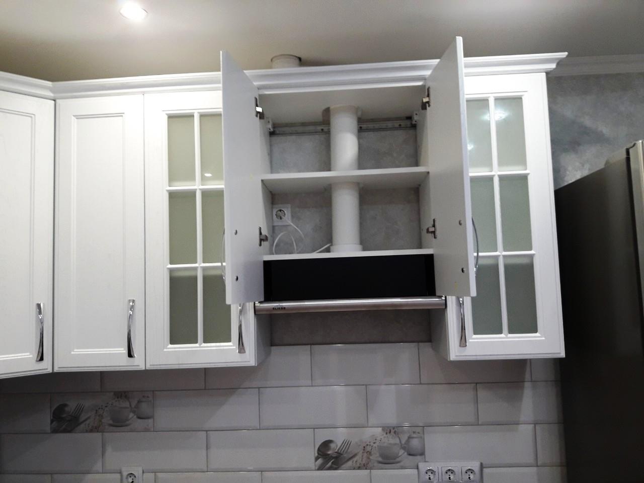 Белый кухонный гарнитур-Кухня МДФ в ПВХ «Модель 540»-фото8