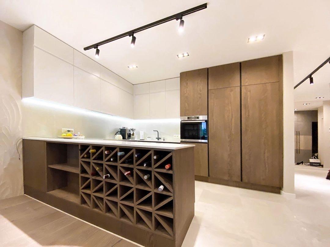 Белый кухонный гарнитур-Кухня МДФ в эмали «Модель 618»-фото1