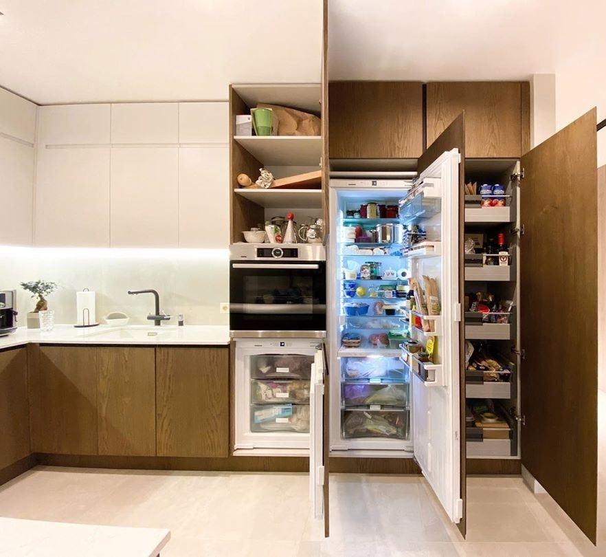 Белый кухонный гарнитур-Кухня МДФ в эмали «Модель 618»-фото7