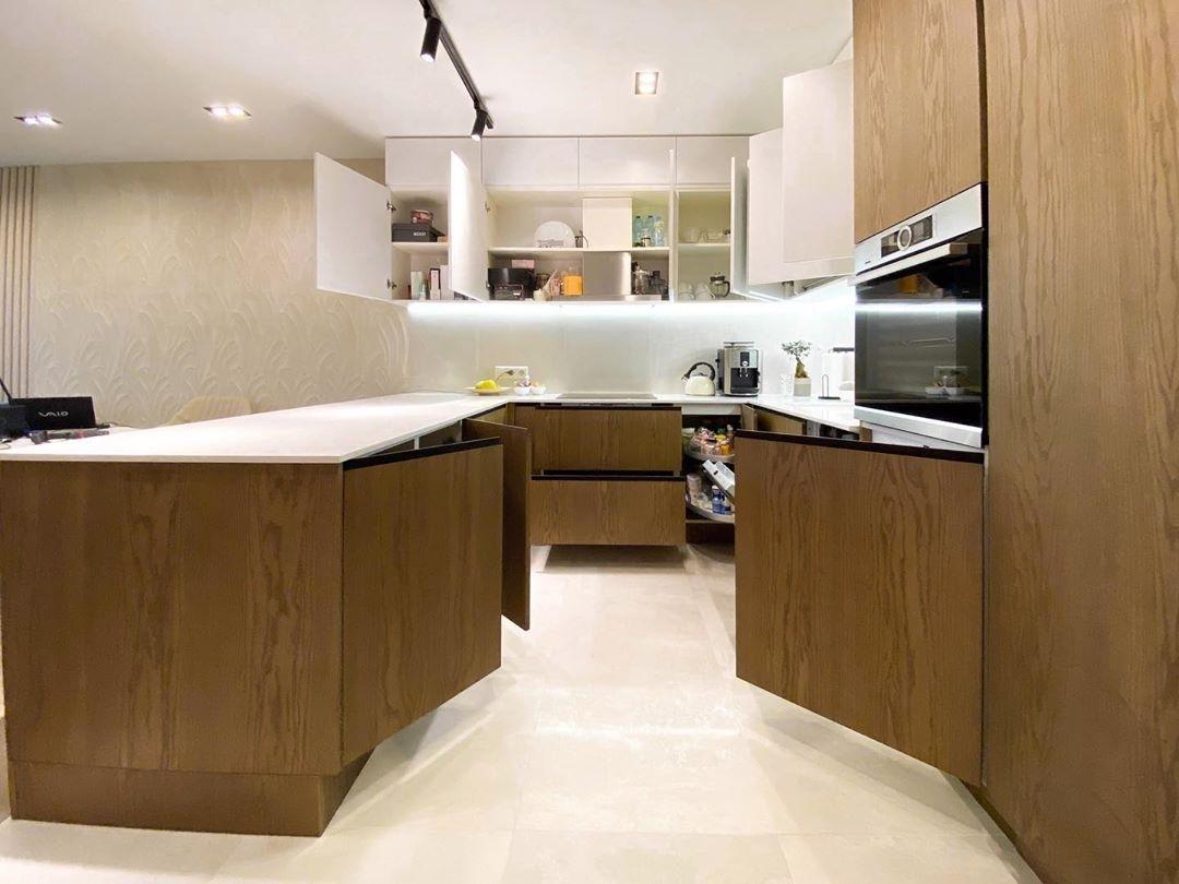 Белый кухонный гарнитур-Кухня МДФ в эмали «Модель 618»-фото6