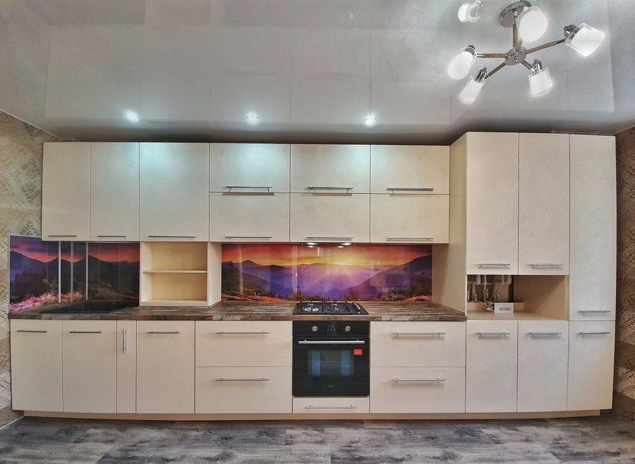 Белый кухонный гарнитур-Кухня МДФ в эмали «Модель 542»-фото3