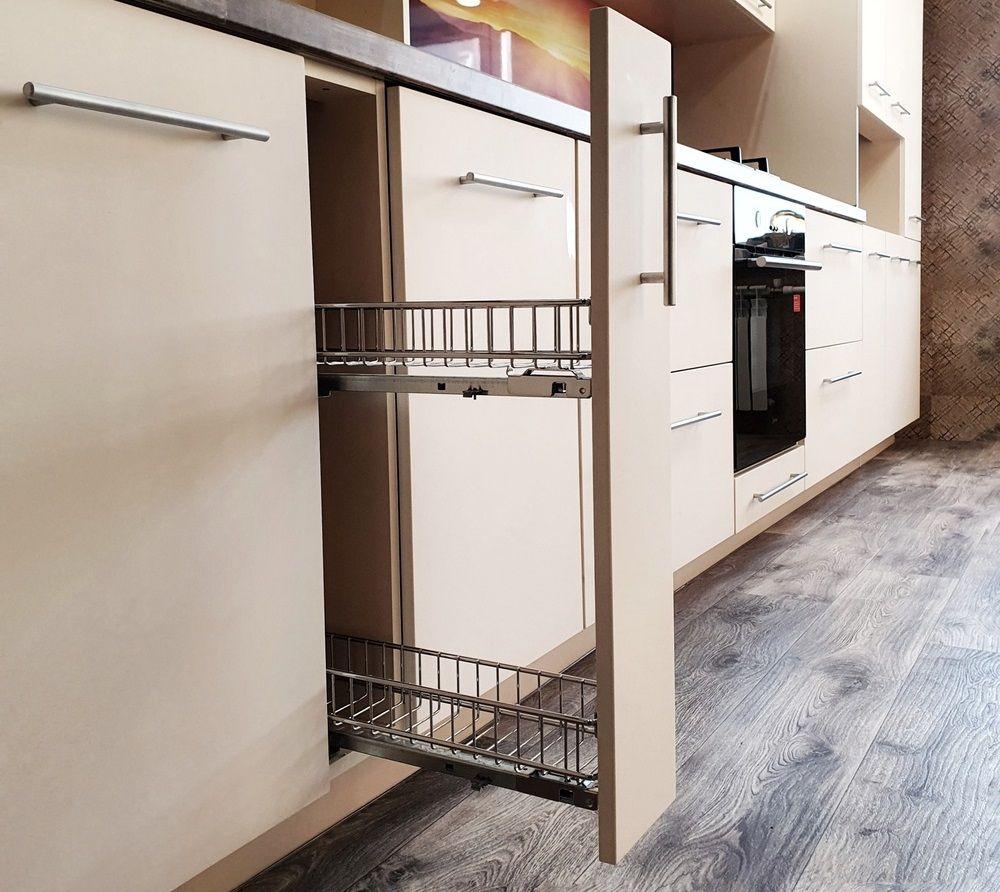 Белый кухонный гарнитур-Кухня МДФ в эмали «Модель 542»-фото9