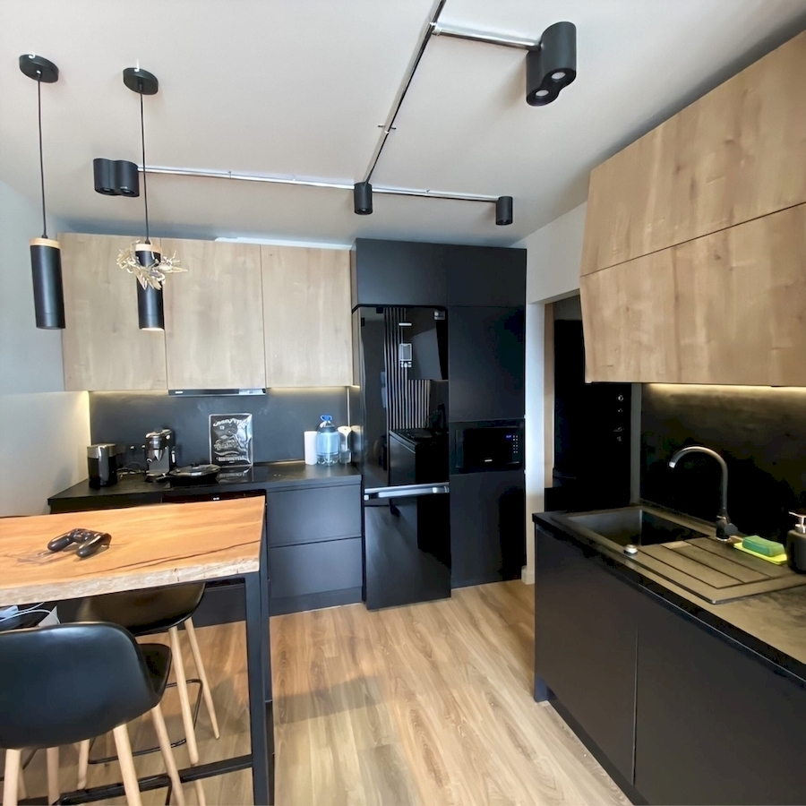Встроенная кухня-Кухня МДФ в эмали «Модель 589»-фото2