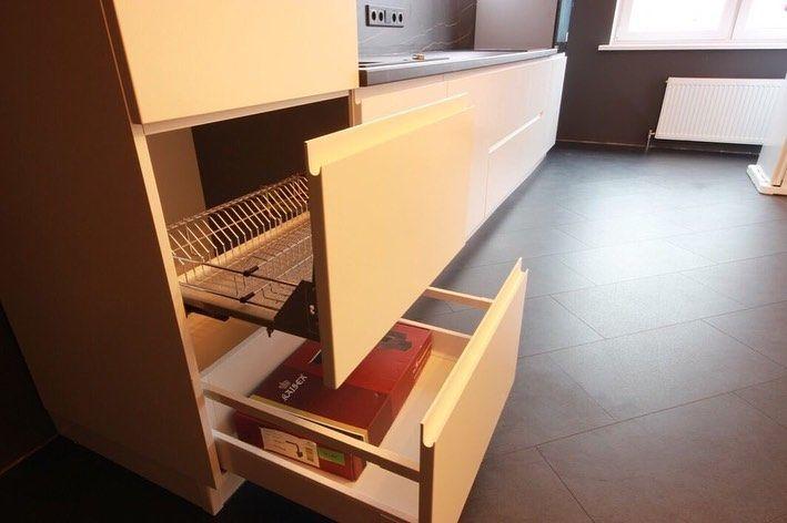 Белый кухонный гарнитур-Кухня МДФ в эмали «Модель 658»-фото6