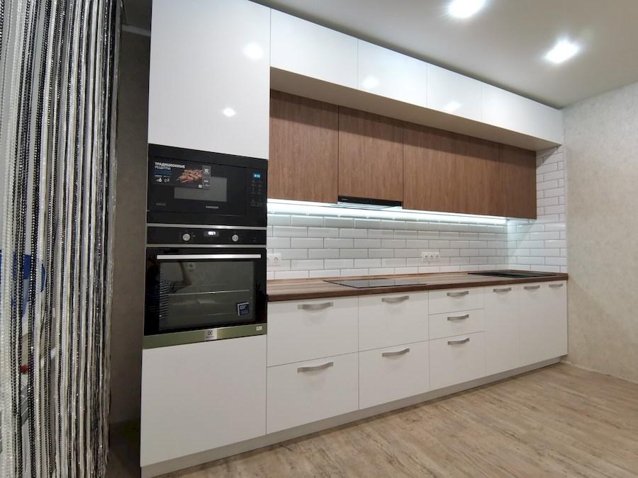 Белый кухонный гарнитур-Кухня МДФ в ПВХ «Модель 577»-фото2