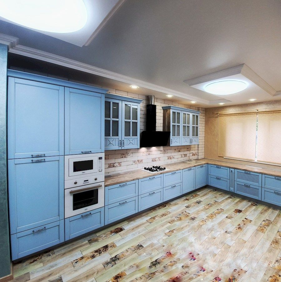 Дорогие и элитные кухни-Кухня МДФ в эмали «Модель 524»-фото2