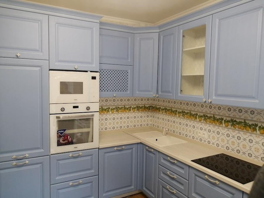Классические кухни-Кухня МДФ в эмали «Модель 582»-фото1