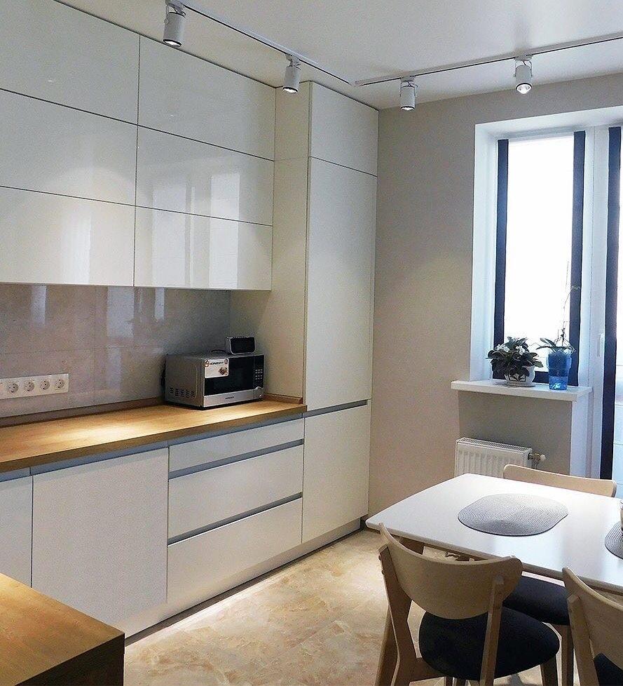 Белый кухонный гарнитур-Кухня МДФ в эмали «Модель 593»-фото2