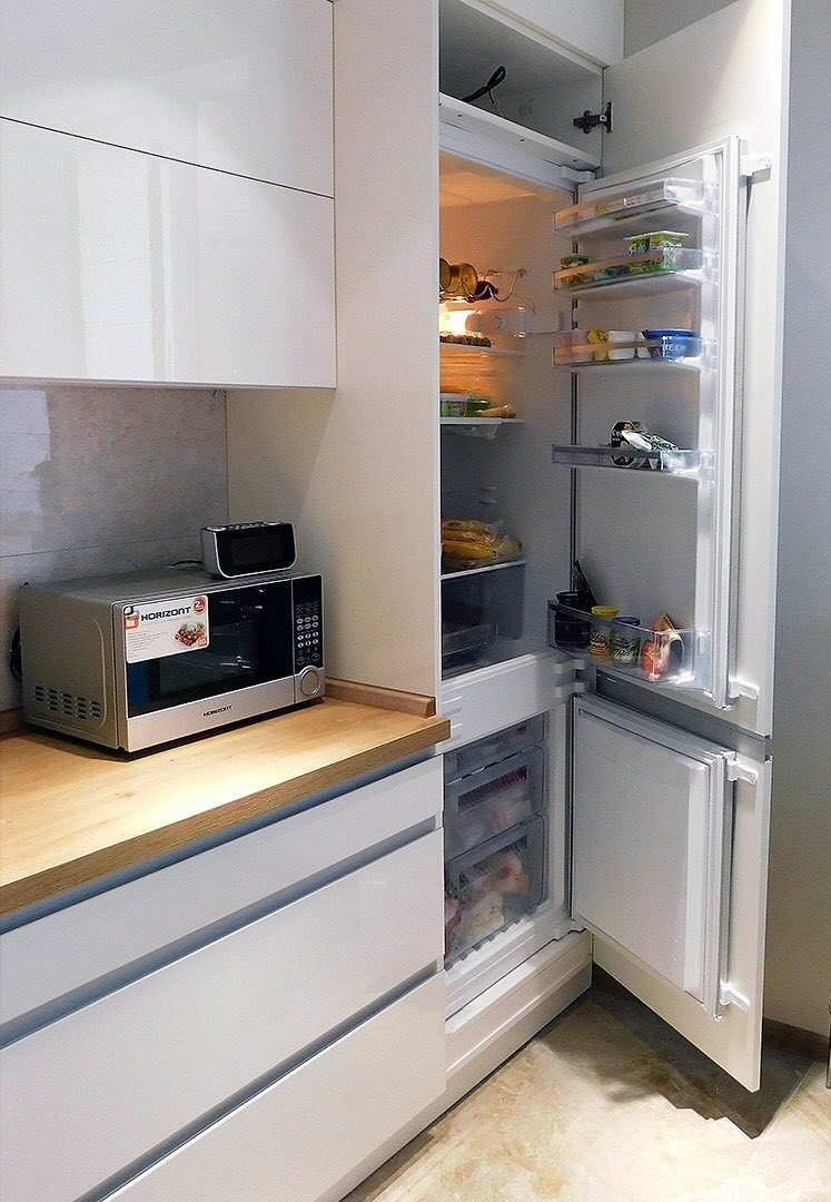 Белый кухонный гарнитур-Кухня МДФ в эмали «Модель 593»-фото6