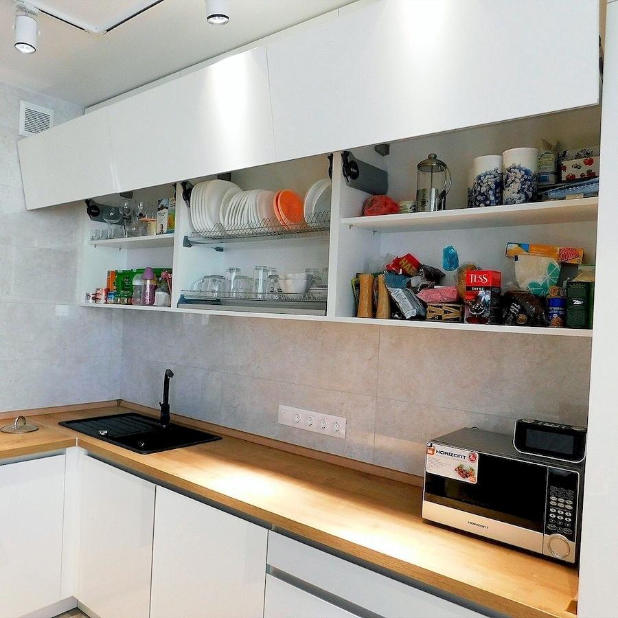 Белый кухонный гарнитур-Кухня МДФ в эмали «Модель 593»-фото5