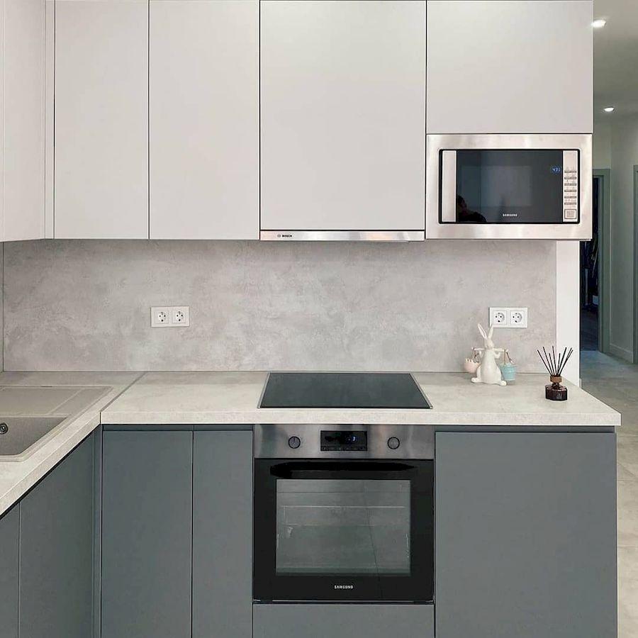 Белый кухонный гарнитур-Кухня МДФ в эмали «Модель 679»-фото3