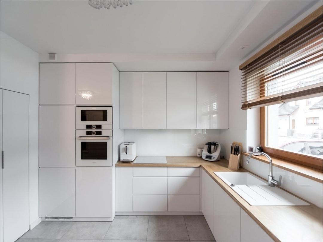Белый кухонный гарнитур-Кухня МДФ в эмали «Модель 609»-фото2