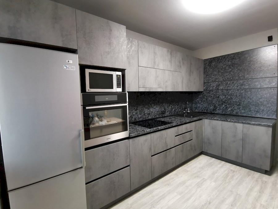 Купить кухню-Кухня МДФ в ПВХ «Модель 575»-фото1