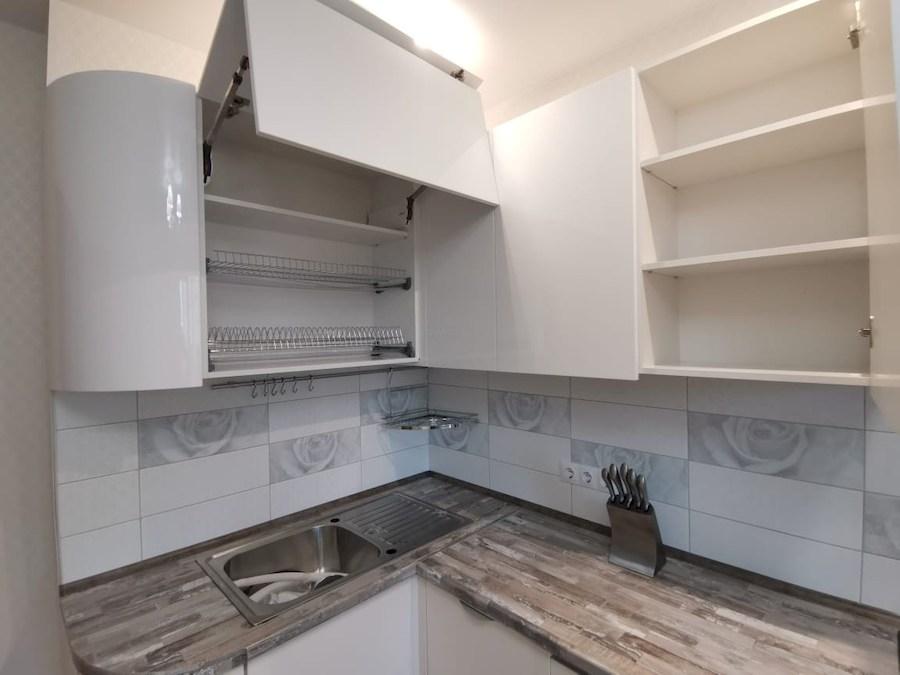 Белый кухонный гарнитур-Кухня МДФ в ПВХ «Модель 574»-фото7
