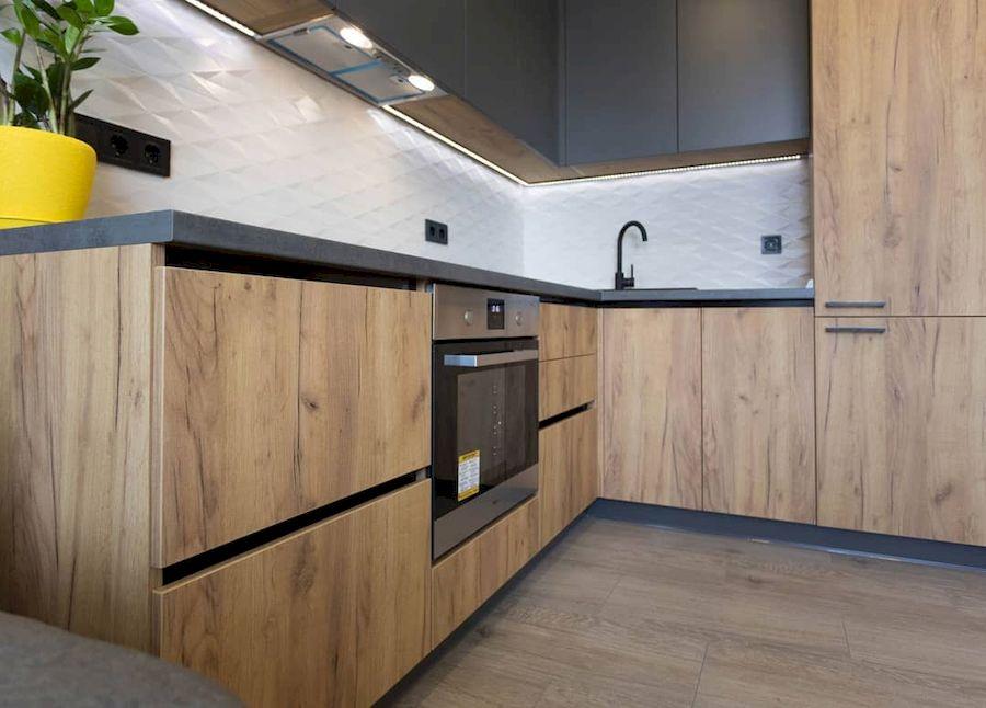 Купить кухню-Кухня из пластика «Модель 671»-фото2