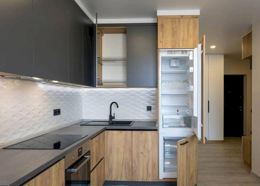 Купить кухню-Кухня из пластика «Модель 671»-фото4