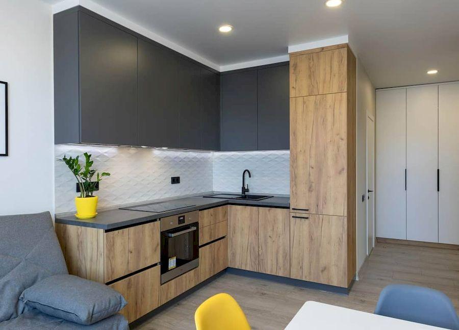 Купить кухню-Кухня из пластика «Модель 671»-фото1